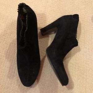 Sam Edelman Black Suede Ankle Booties
